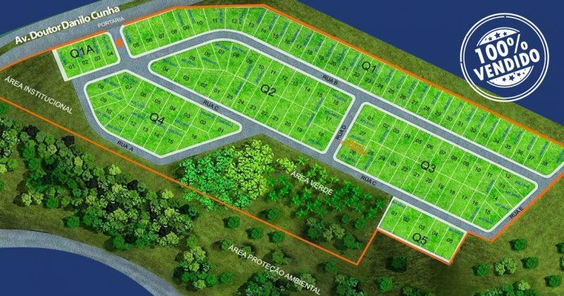 Implantação Blue Garden Araxás